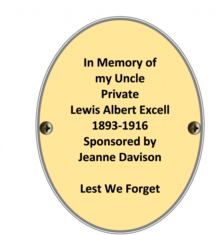 Private Lewis Albert Excell