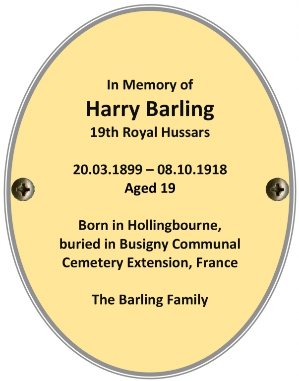 Private Harry Barling