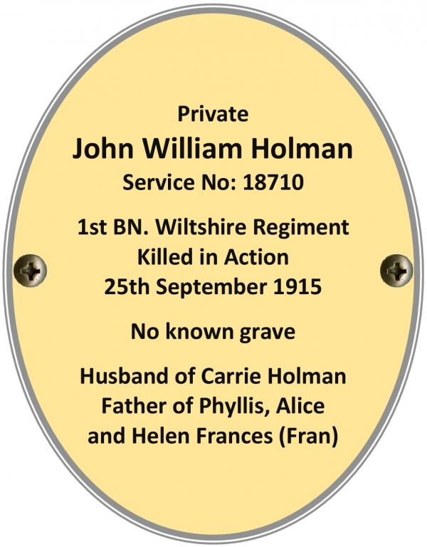Private John William Holman