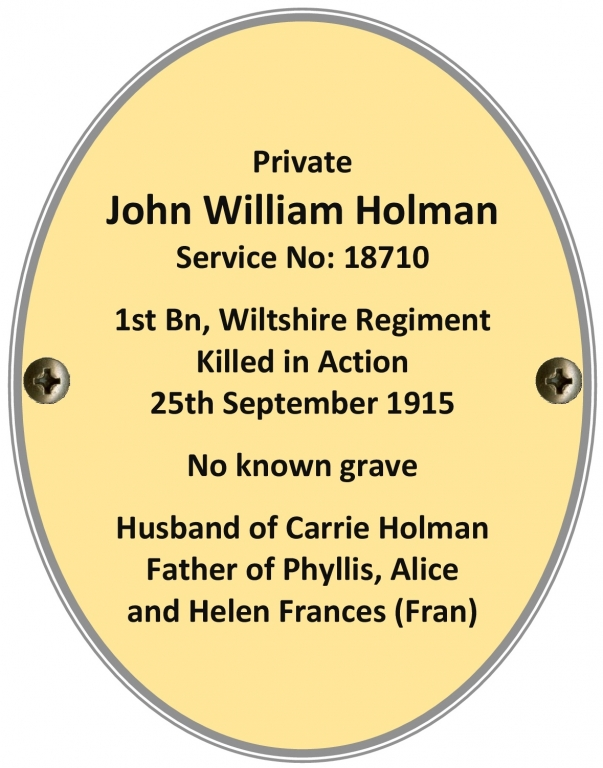 Private John William Holman