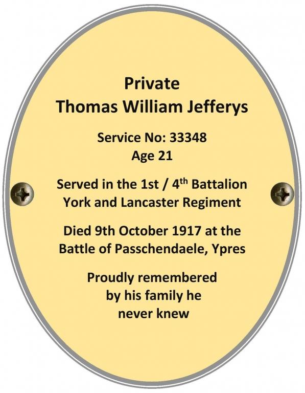 Private Thomas William Jefferys
