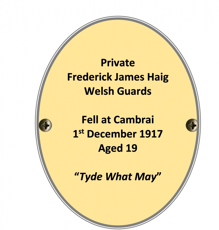 Private Frederick James Haig