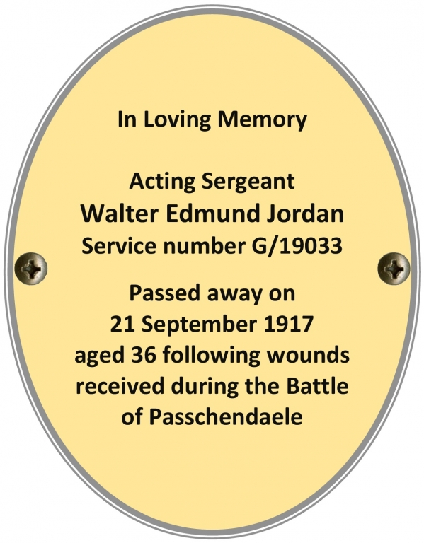 Serjeant Walter Edmund Jordan