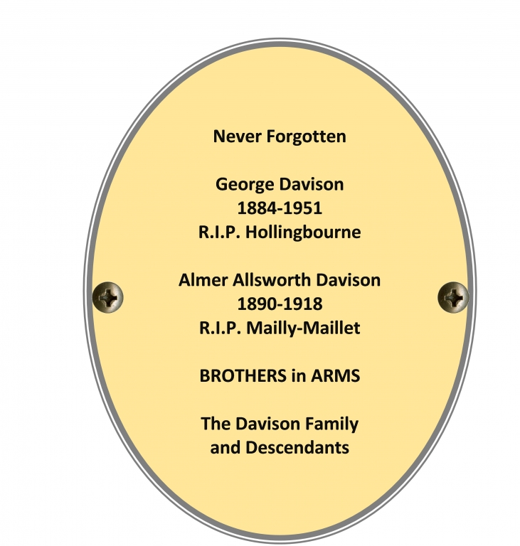 Private Almer Allsworth Davison and George Davison