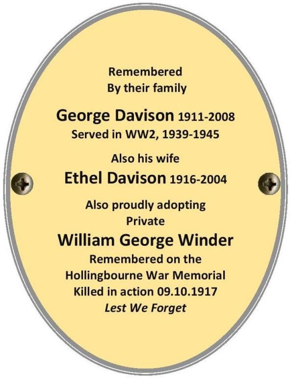 Private William George Winder