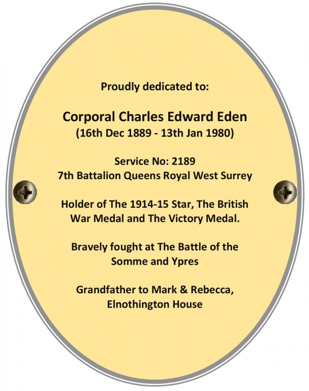 Corporal Charles Edward Eden