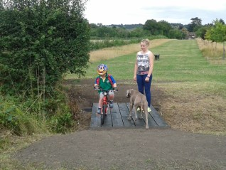 Frankie Murphy and her son (Edward) together with their dog were the first people to use the crossing