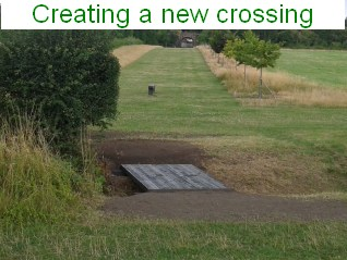 Creating a new crossing