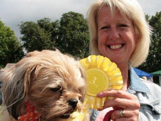 A prize winner from the Exemption Dog Show