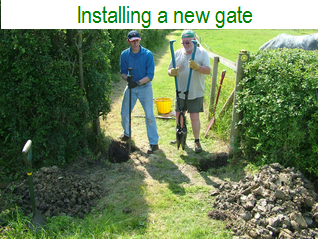 Installing a new gate