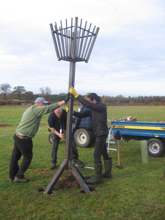 Erecting the Beacon
