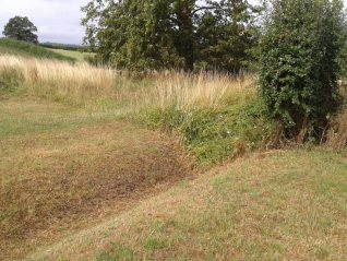 The ditch prior to work starting