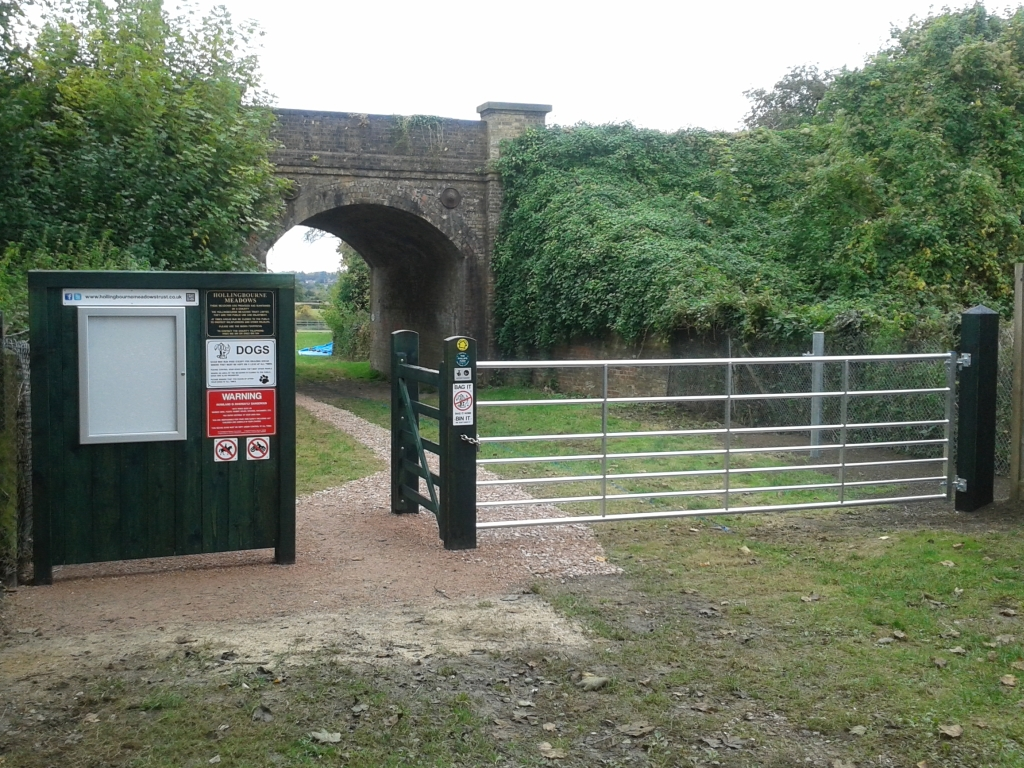 New gate and signage from Culpeper Close entrance