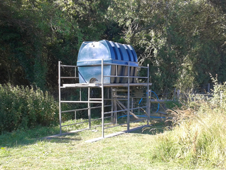 The temporary 2500 Litre storage tank