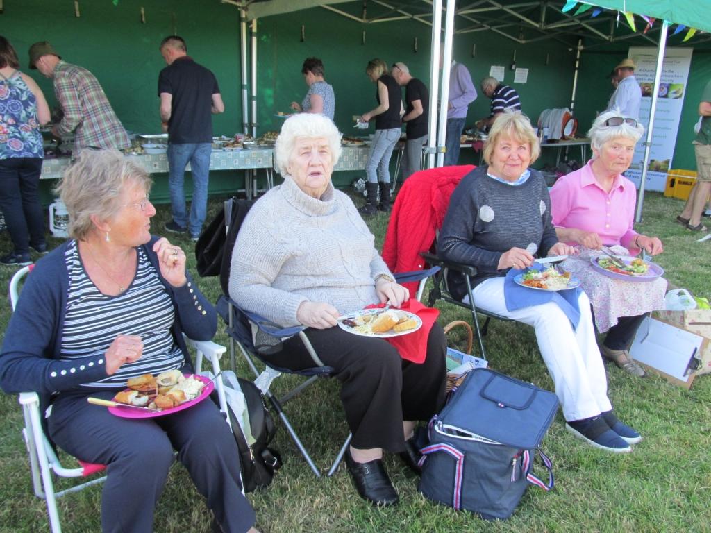 Right to left: Jenny Cox, Mary Henderson and Rita Moon